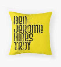 Ben Jerome Hines Troy / Gold Throw Pillow