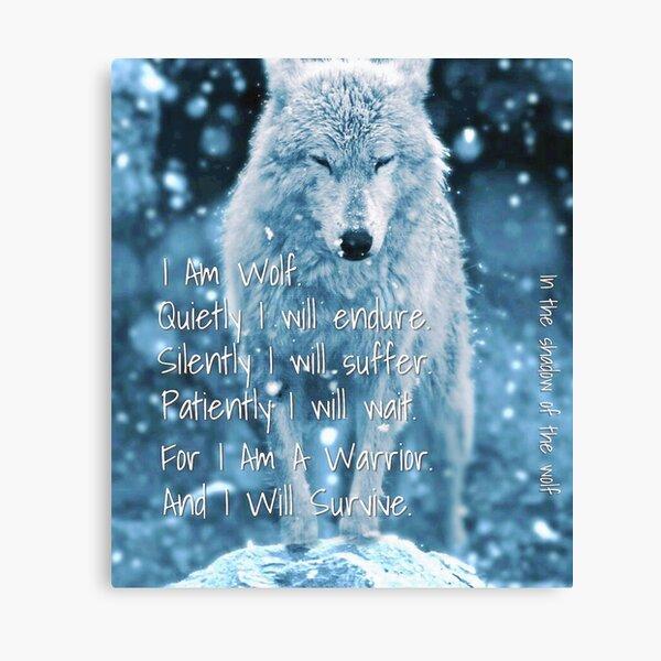 I Am Wolf. I Am a Warrior Canvas Print