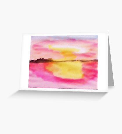 Early morning glory!  watercolor Greeting Card