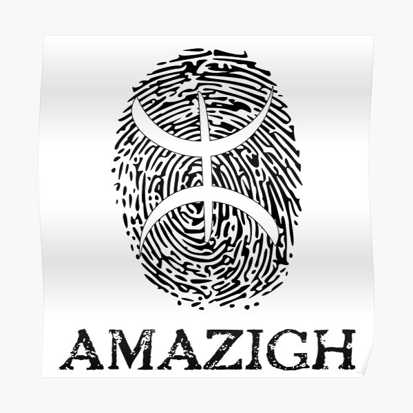 Empreinte digitale amazigh Poster