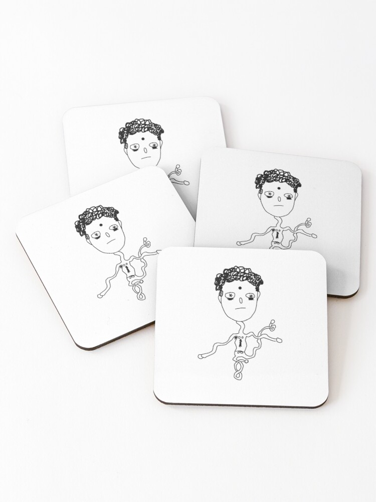 Strange Elastic Man Coasters Set Of 4 By Tortupouce Redbubble