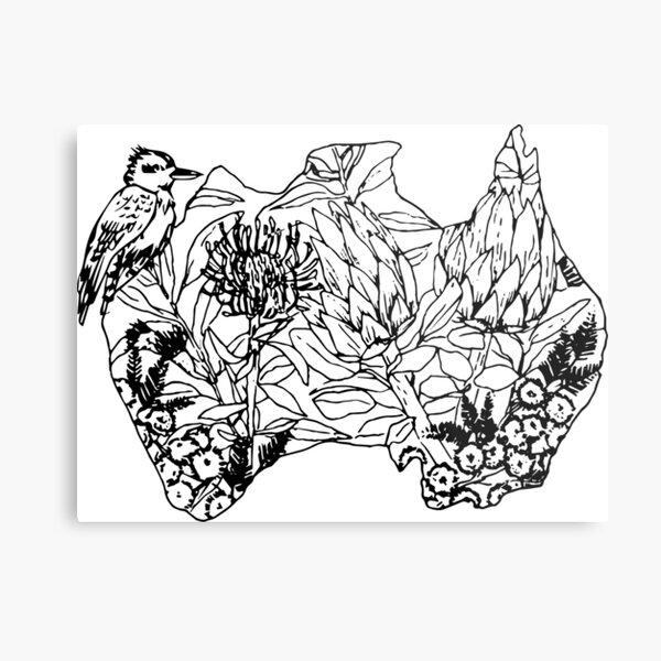 Australian Flora & Fauna Metal Print