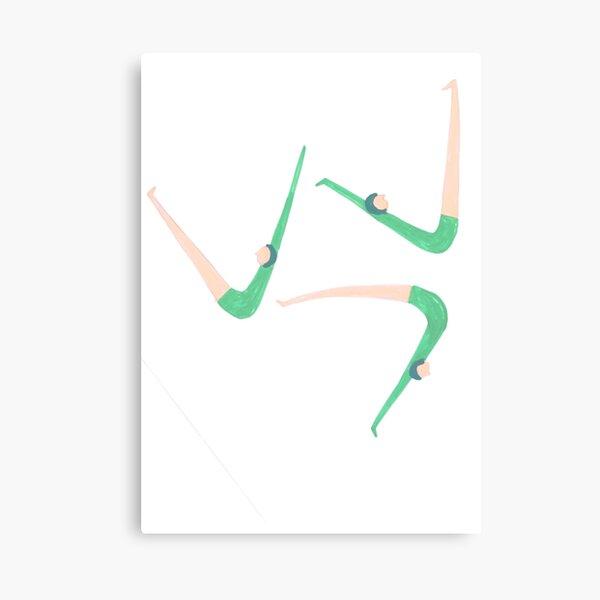 Gymnast retro style Canvas Print