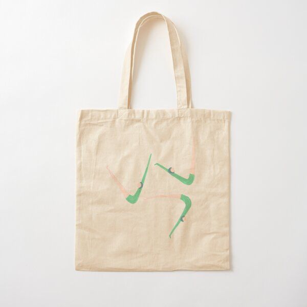 Gymnast retro style Cotton Tote Bag