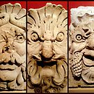 Antique stone masks by bubblehex08