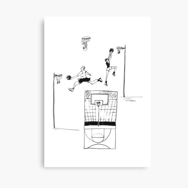 Basketball retro sketch Canvas Print