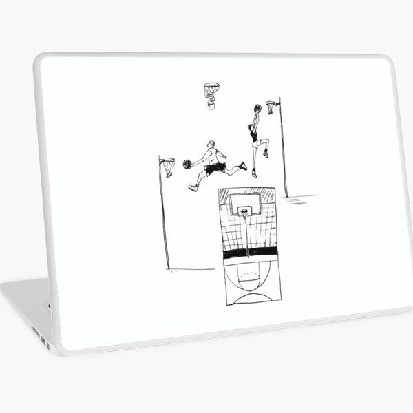 Basketball retro sketch Laptop Skin