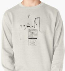 Basketball Retro Sketch Pullover