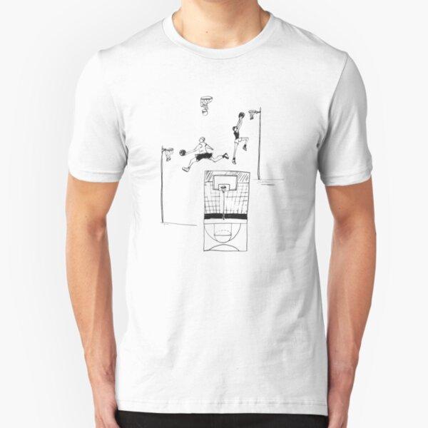Basketball retro sketch Slim Fit T-Shirt