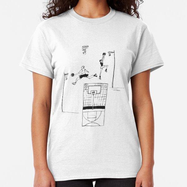 Basketball retro sketch Classic T-Shirt
