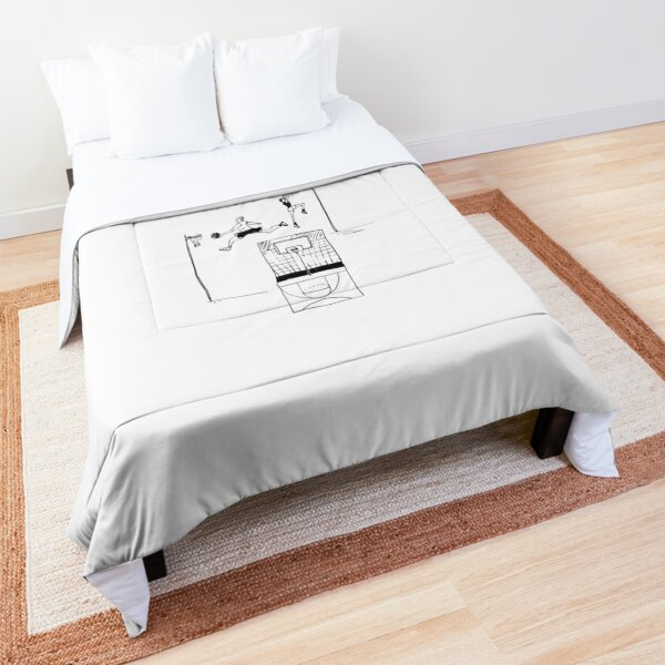 Basketball retro sketch Comforter
