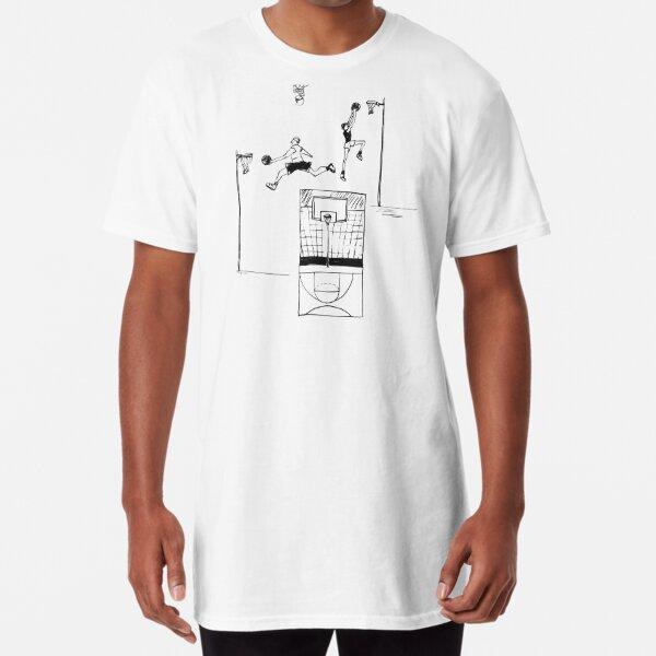 Basketball retro sketch Long T-Shirt