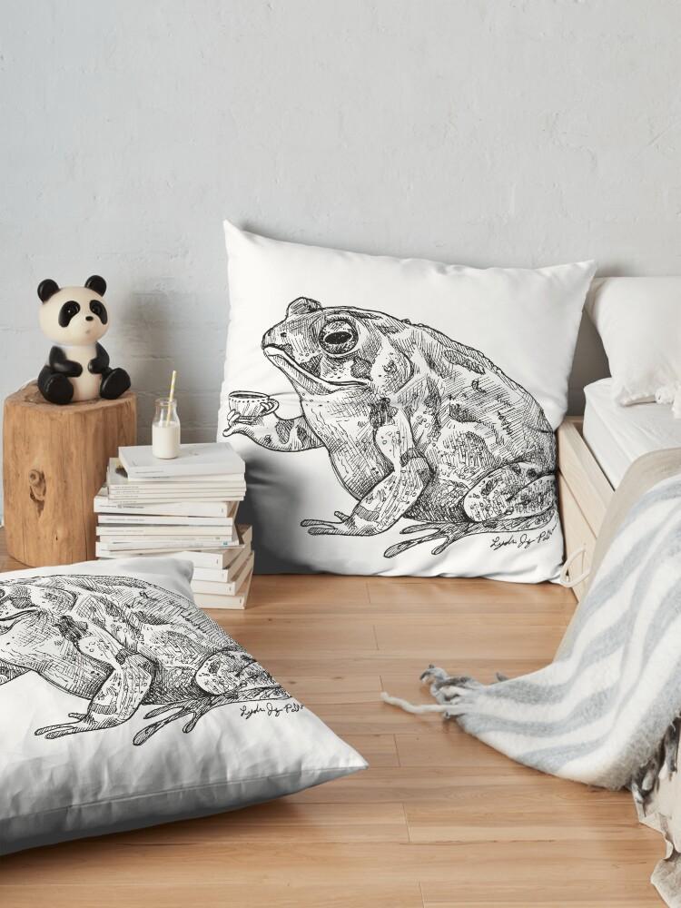 Alternate view of Tea Toad Floor Pillow