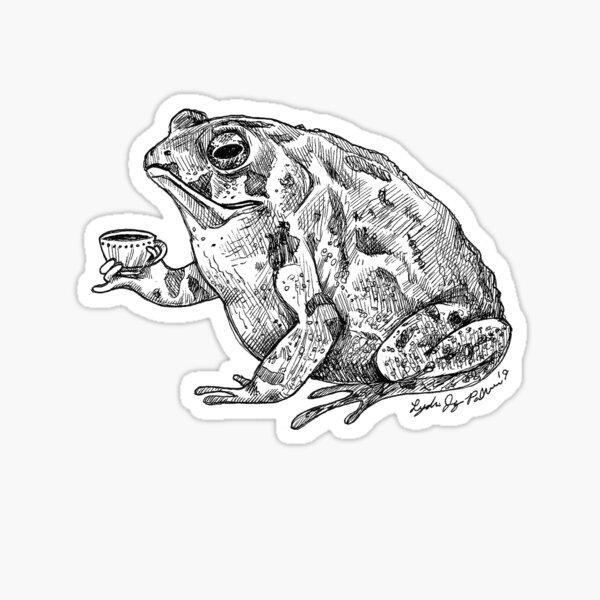 Tea Toad Sticker