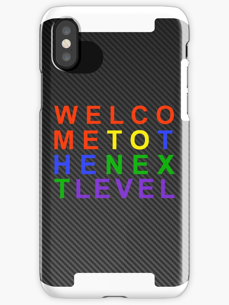 Carbon Fiber SEGA WELCOME TO THE NEXT LEVEL iPhone Case by kalitarios
