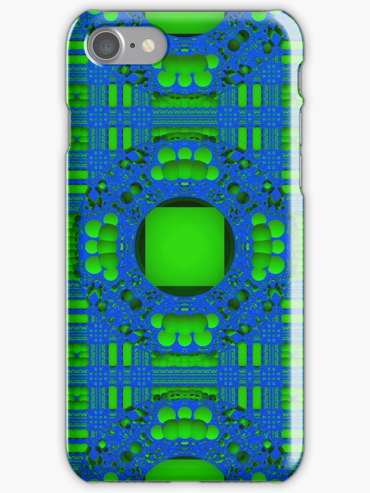 Blue & Green Pattern for iPhone by Lyle Hatch