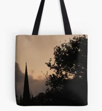 early evening rain clouds over St Michaels Church Kirkham Tote Bag