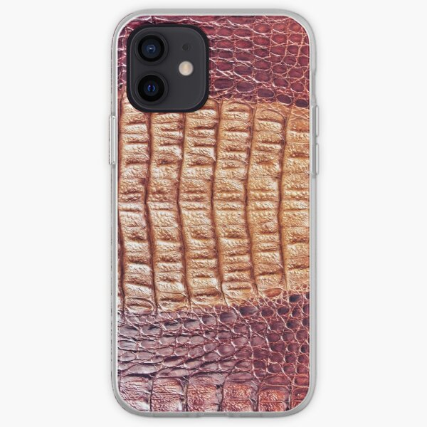 Croco Genuine Leather  iPhone Soft Case