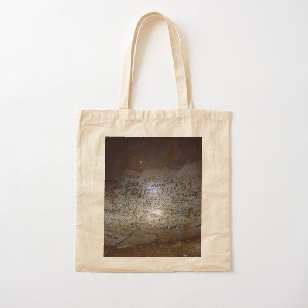 Cave Graffiti Cotton Tote Bag