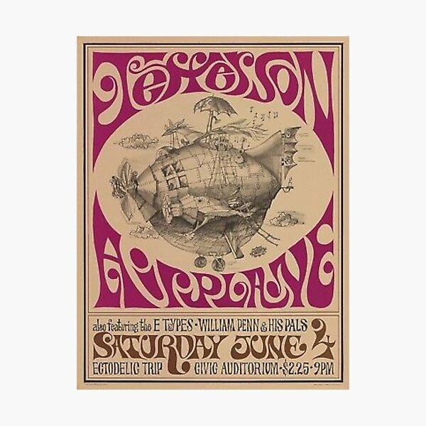 Jefferson Airplane Vintage Poster Photographic Print