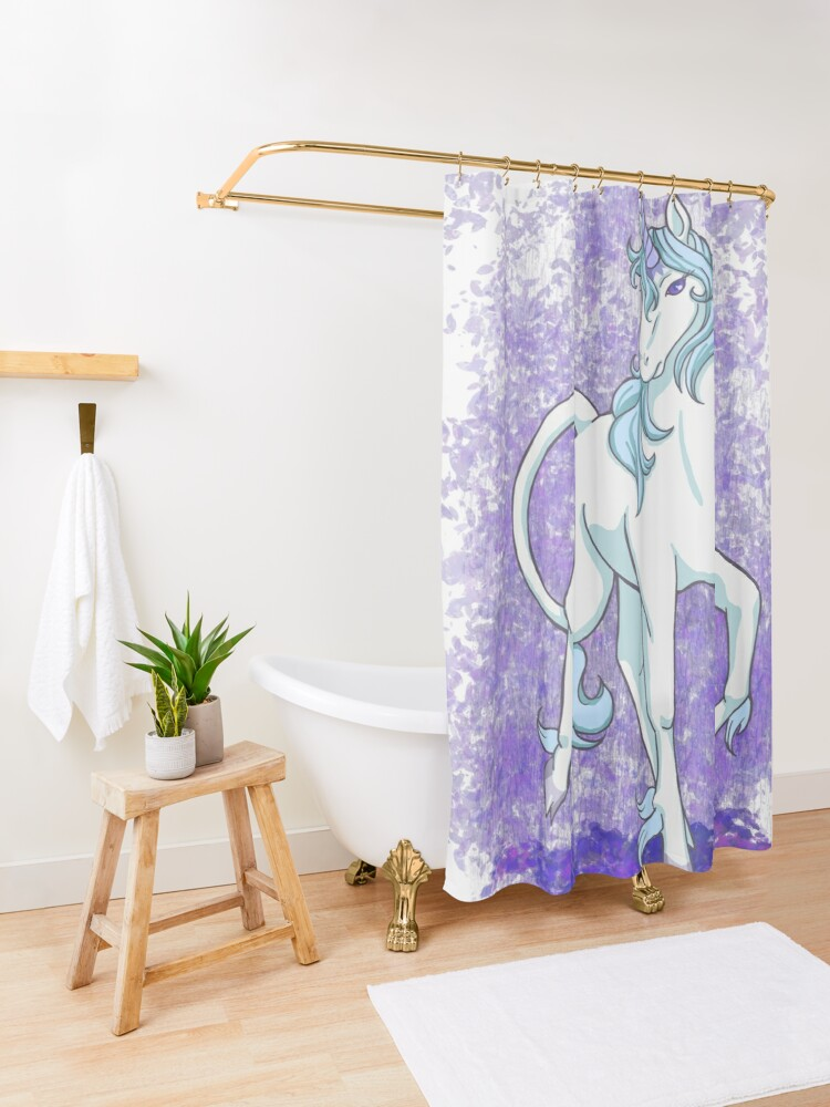 Alternate view of Am I Truly Shower Curtain