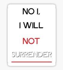 Surrender Sticker