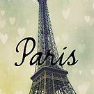 Paris Typography Eiffel Tower by Nicola  Pearson