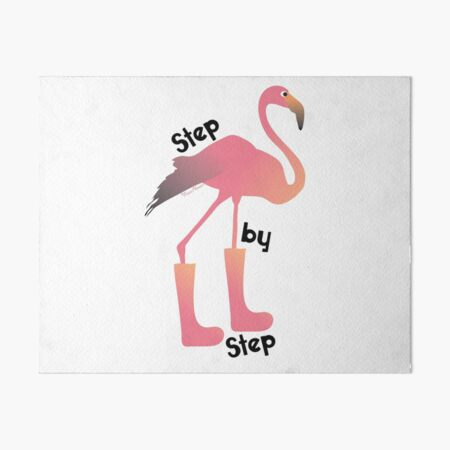 Flamingo - One Step at a Time  Art Board Print