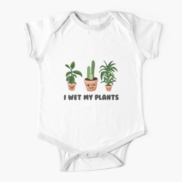 Me mojé el mono de una planta bebé bot niña Body de manga corta para bebé