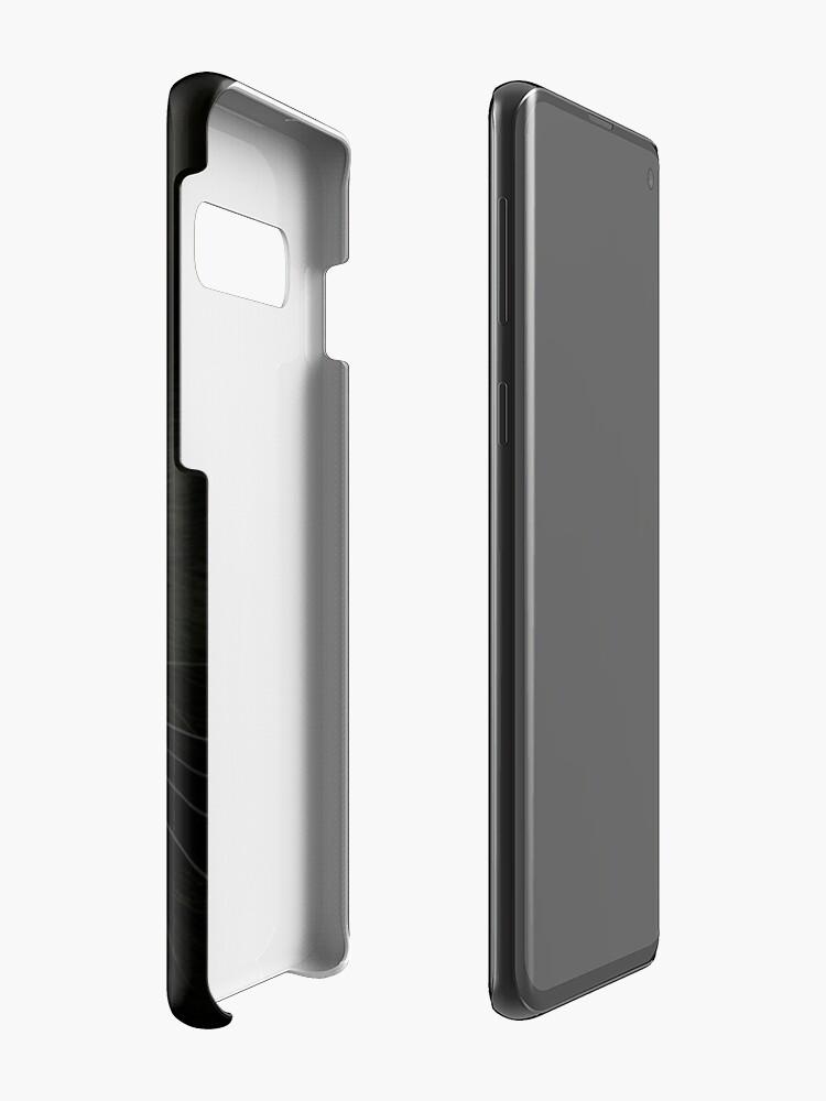 Alternate view of Black on Black.. Case & Skin for Samsung Galaxy