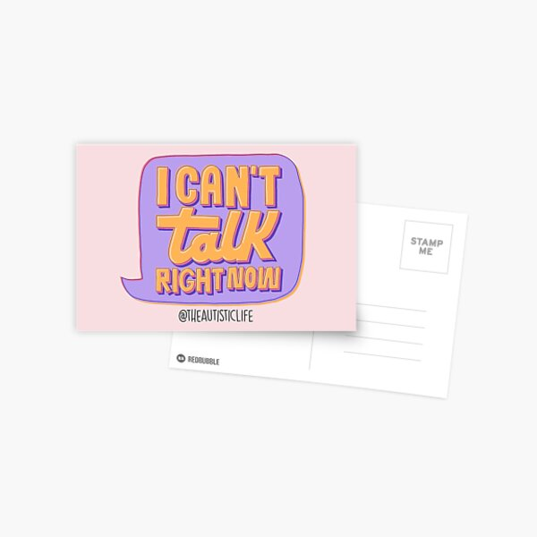 Can't Talk Right Now Postcard