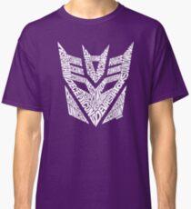 Transformers Decepticons White Classic T-Shirt