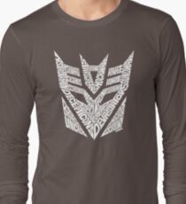 Transformers Decepticons White Long Sleeve T-Shirt