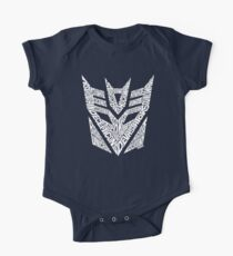 Transformers Decepticons White One Piece - Short Sleeve