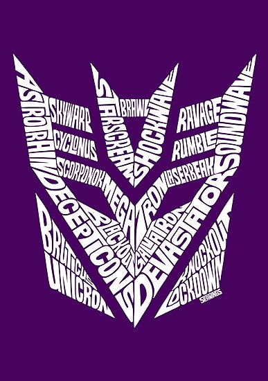 Transformers Decepticons White by seaning
