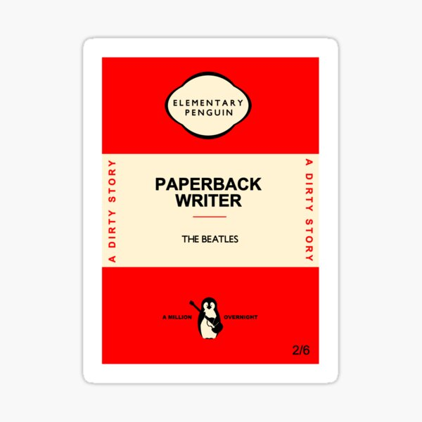 Fab Four Elementary Penguin Paperback Cover Sticker