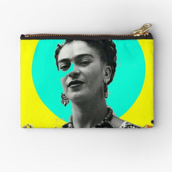 Frida Collage Zipper Pouch