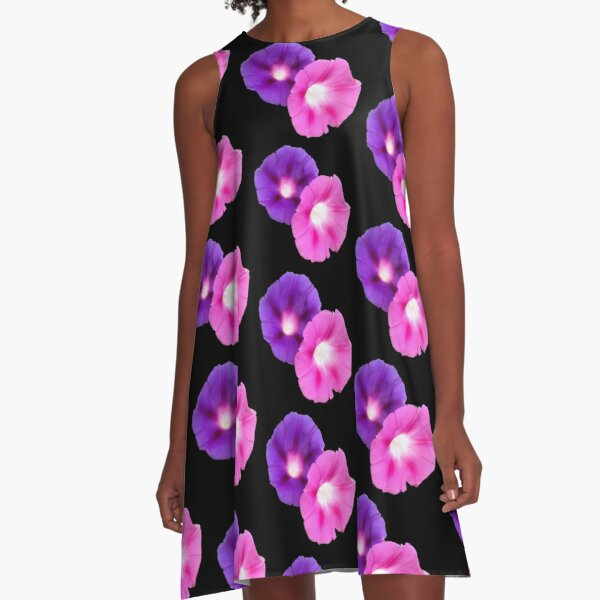 Morning Glories A-Line Dress