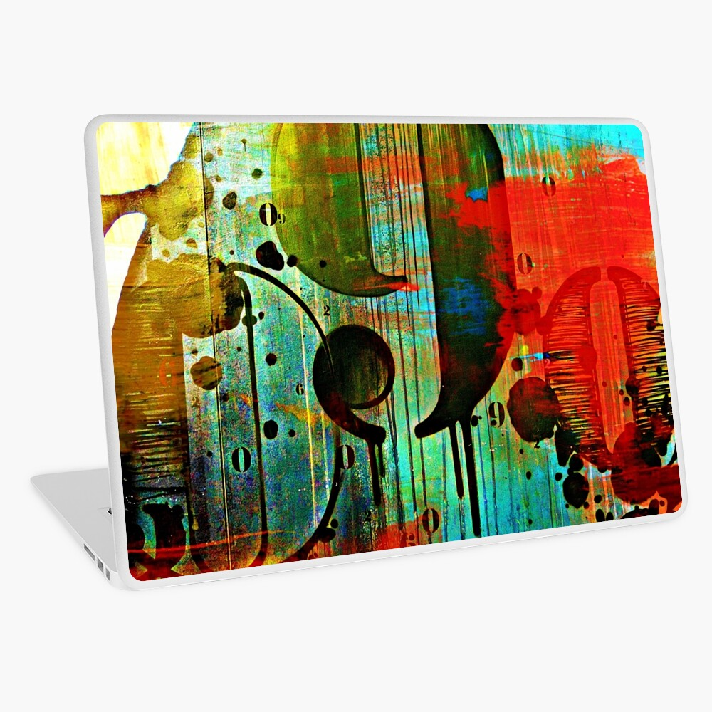 Street numbers on the wall abstract Laptop Skin