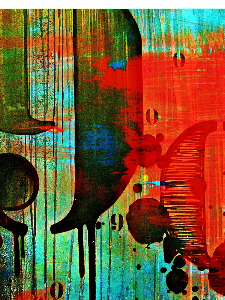 Street numbers on the wall abstract by travelways