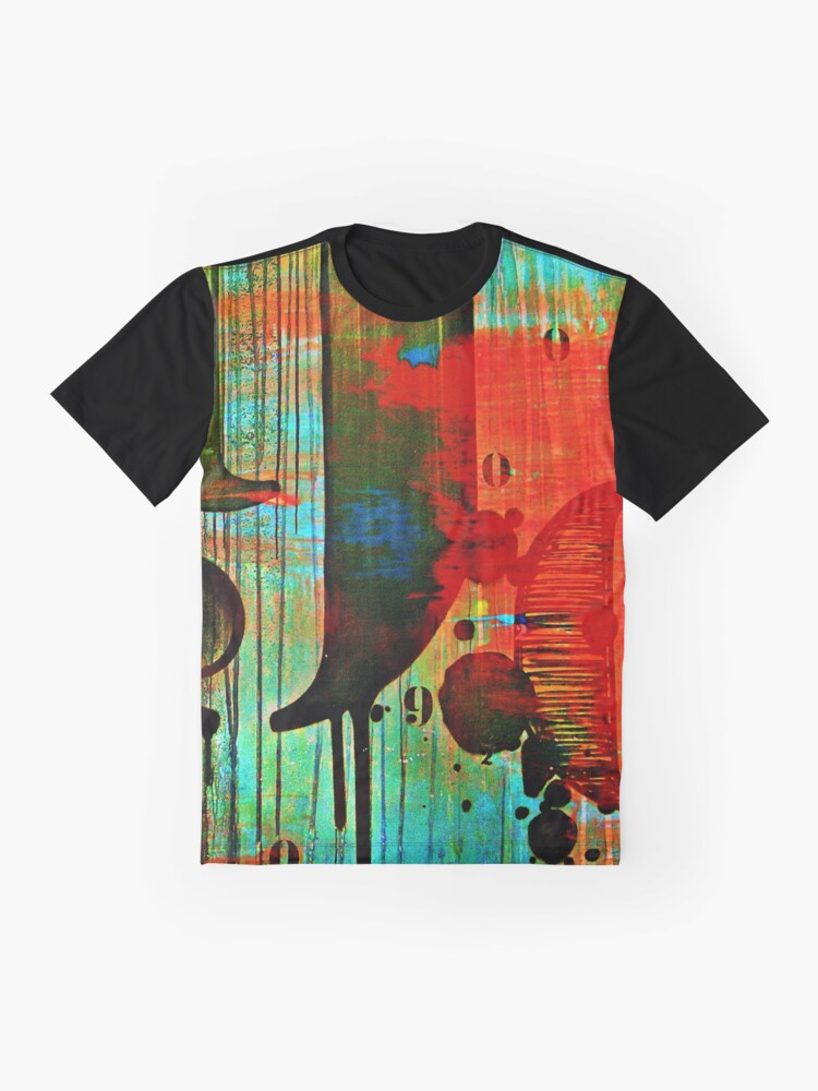 Alternate view of Street numbers on the wall abstract Graphic T-Shirt