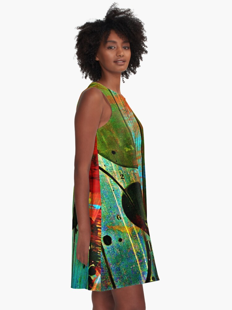 Alternate view of Street numbers on the wall abstract A-Line Dress