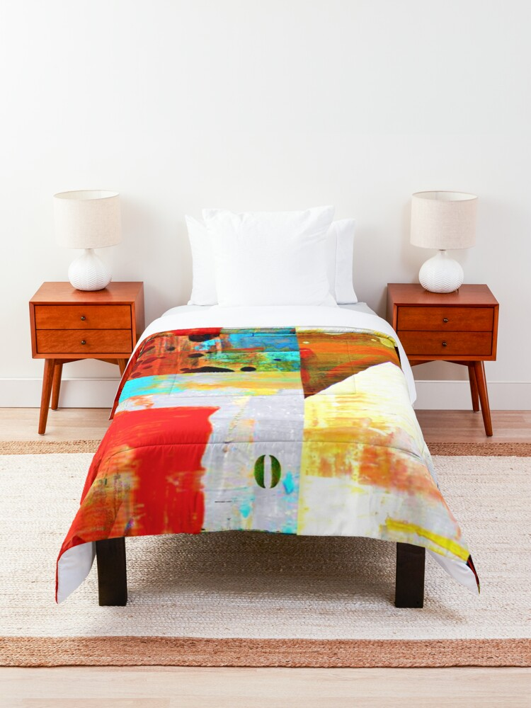 Alternate view of Street numbers on the wall abstract Comforter