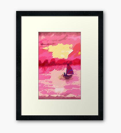 Sailing away, watercolor Framed Print