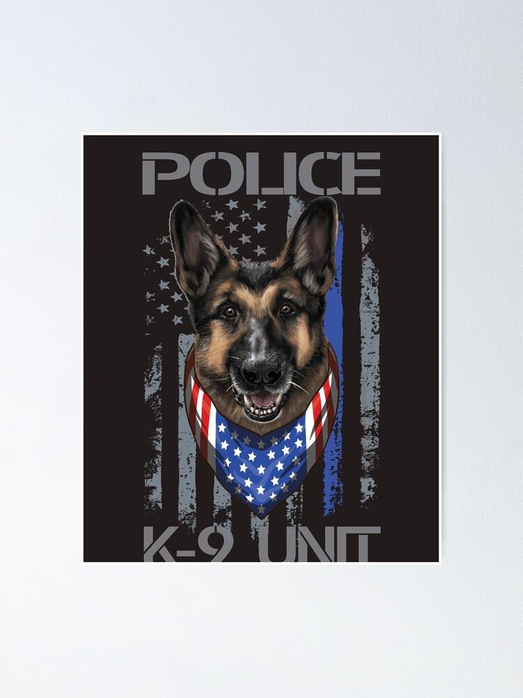 K-9 Officer Canine K9 Unit Police Dog Paw Handler Trainer Long Sleeve T-Shirt