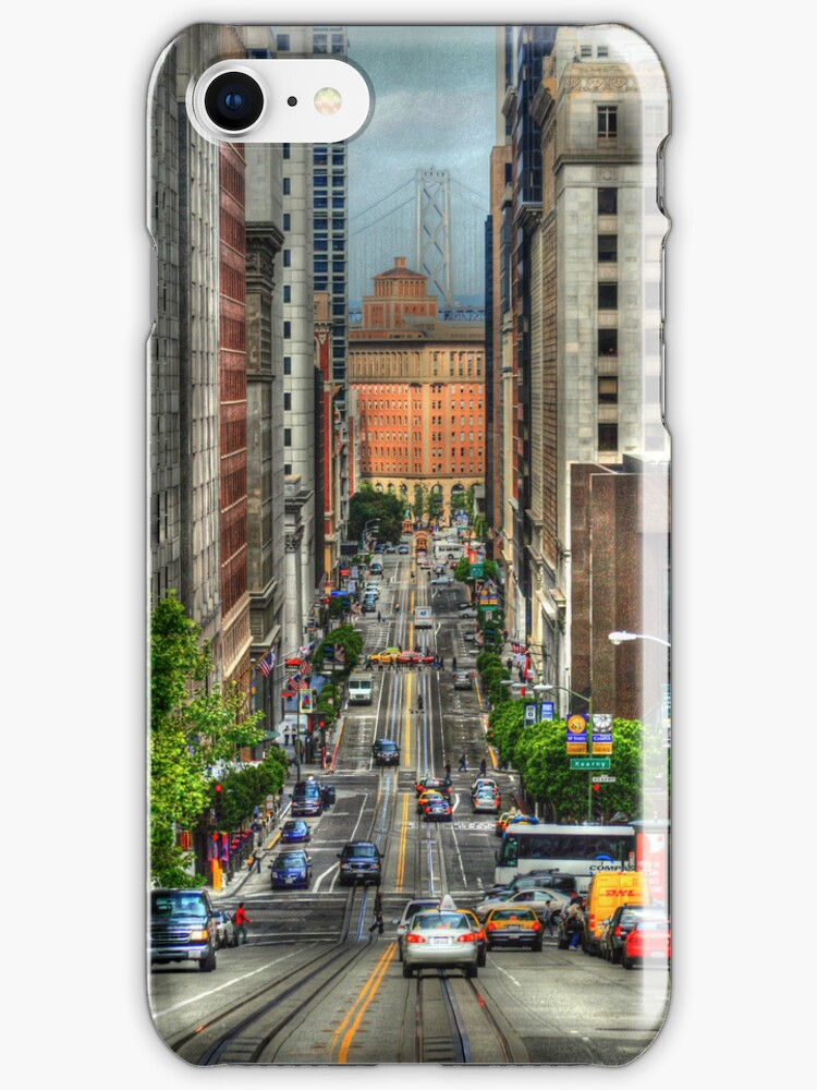 California Steet - iPhone case by Kimberly Palmer