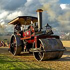 "Burrell 5nhp Steam Road Roller ""Daffodil"" by Andrew Harker"