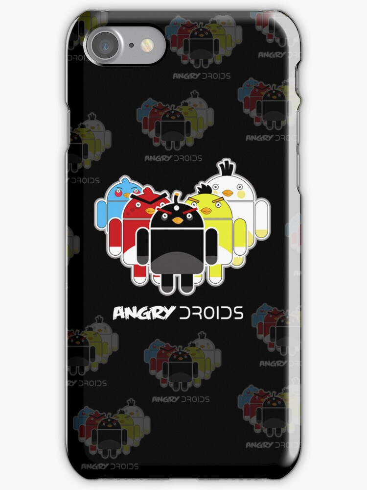 Angry Droids (sticker) + IPhoneCase by weRsNs