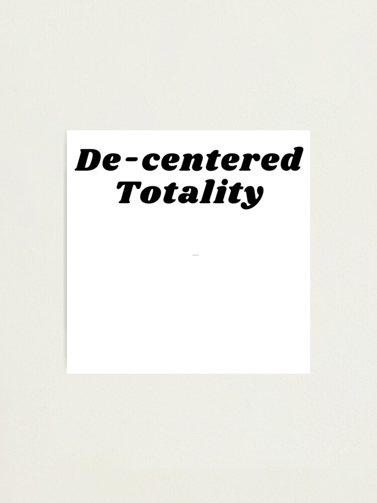 Alternate view of De-centered Totality Photographic Print