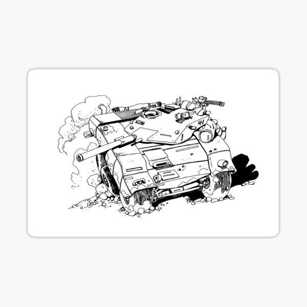 Tank Off road Sticker